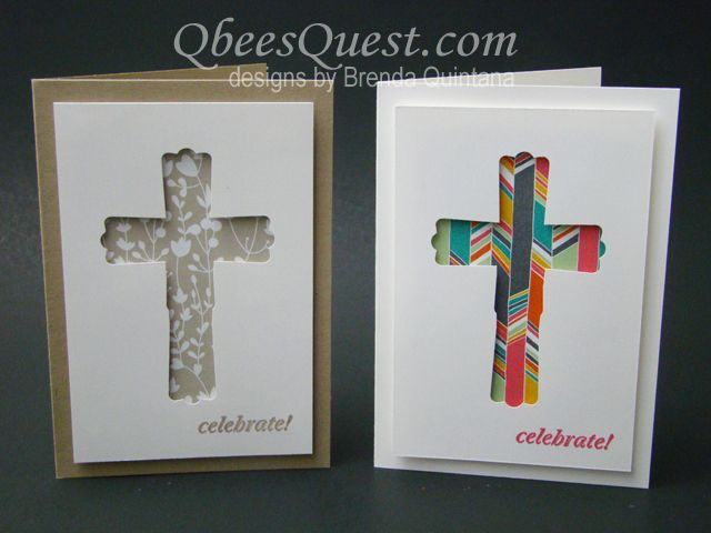 And Many More, Modern Label punch, Something Borrowed & Confetti Celebration DSP - Cross Card (by Brenda Quintana Qbee on SCS 03/23/2014)