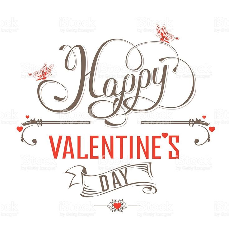 Happy Valentines Day Vintage label royalty-free stock vector art