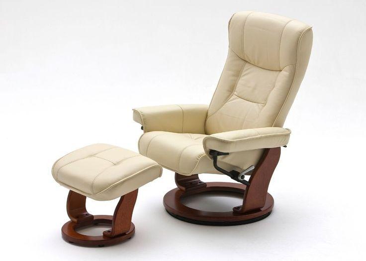 Relaxsessel Hamilton Leder Creme Fuß Honig 8840. Buy now at https://www.moebel-wohnbar.de/relaxsessel-hamilton-fernsehsessel-leder-creme-fuss-honig-8840.html