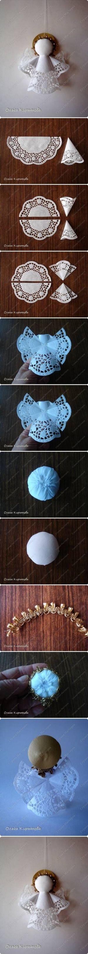 DIY Napkin Angel by Ammazed