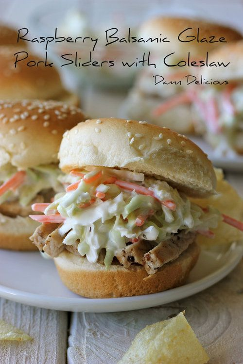 , Raspberry Balsamic Glaze Pork Sliders with Coleslaw and a Giveaway!