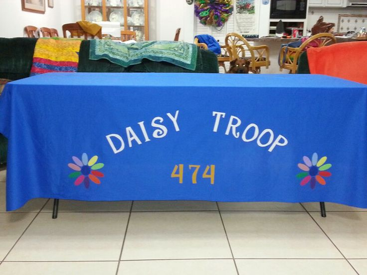 tablecloth for girl scout cookie sales booth girl scout