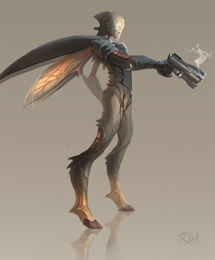 [illustration; ff; figure; insect; bugman] Bugman by RattledMachine