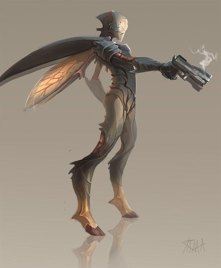 [illustration; ff; figure; insect; bugman] Bugman by RattledMachine