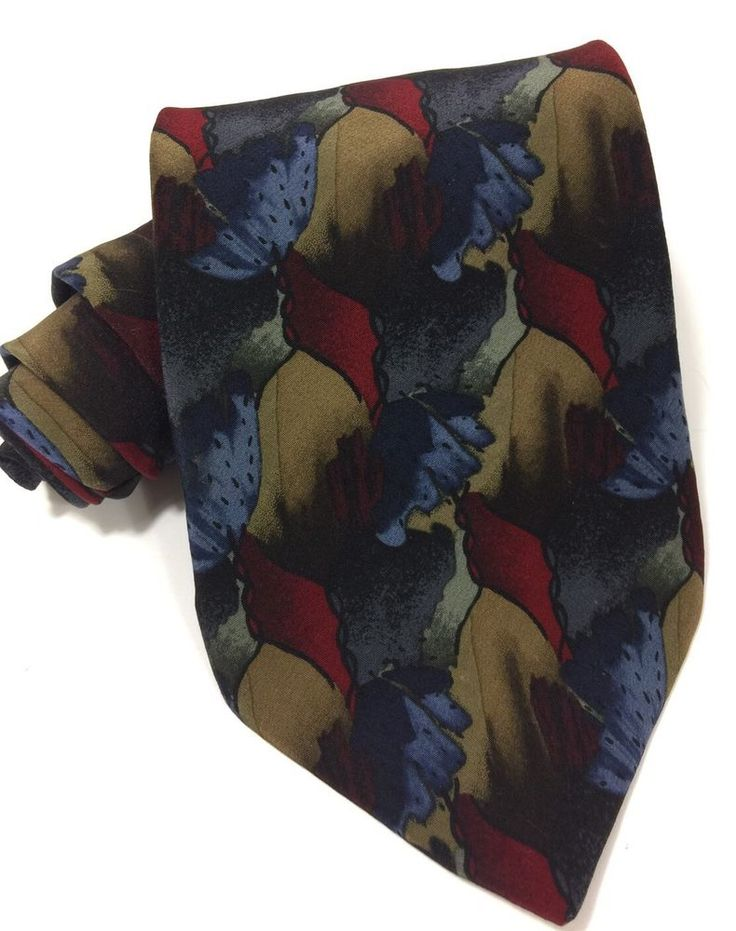 Christopher Reeve Tie Abstract Design Silk 59L Dana Reeve Collection One  | eBay