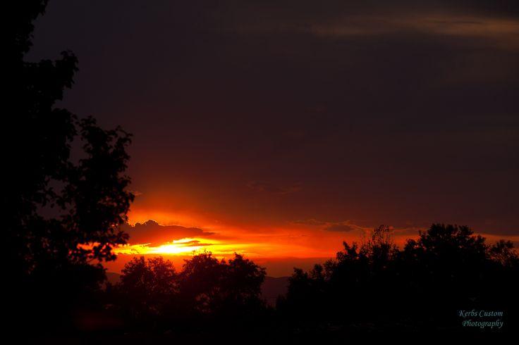 Sunset over Great Salt Lake viewed from Roy Utah