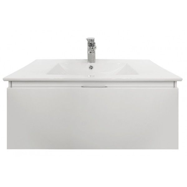 VOGUE Oslo Wall Vanity with CLASSIC-Ceramic Top * W 800mm, D 460mm, H 400mm
