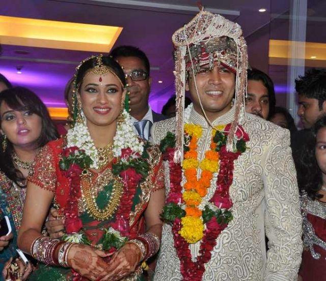 Indian Actress Shweta Tiwari Wedding Pictures