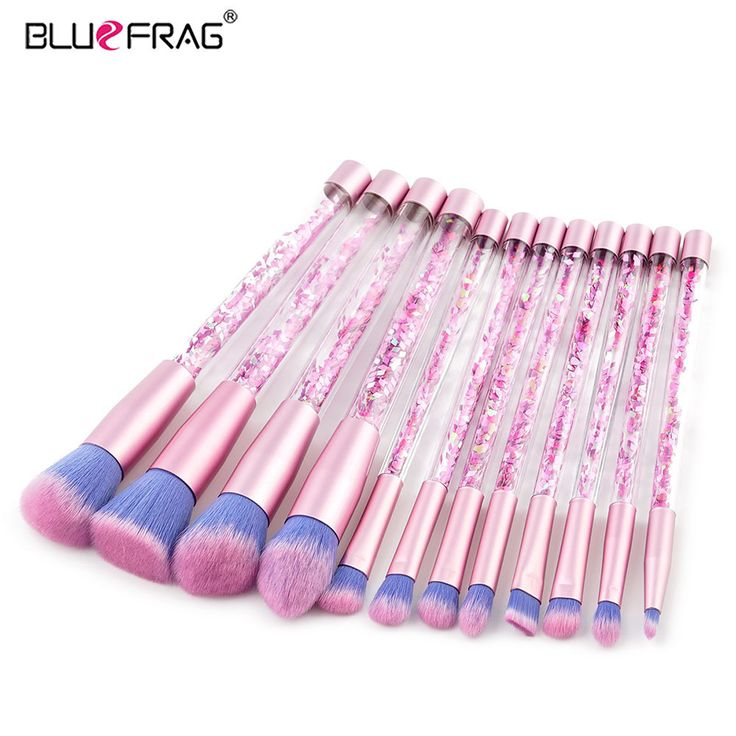 Aliexpress.com : Buy BLUEFRAG 12pcs Makeup Brush Set Transparent Colorful Handles Super Soft Hair Makeup Kit Eyebrow Eyeliner Powder Cosmetic Tools from Reliable cosmetic tools suppliers on BLUEFRAG Official Store