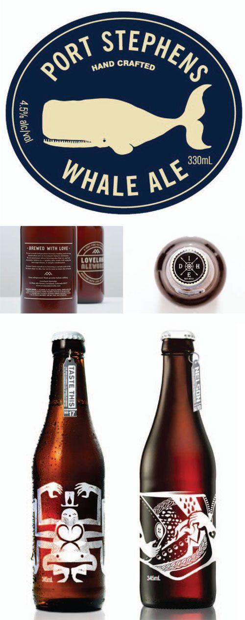From the Design Desk: Beer Label Love. Port Stephens Whale Ale #beer #ale #craft beer