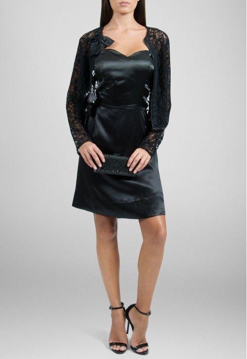 POWERLOOK - Aluguel de Vestidos Online - Vestido Lace curto tqc com casaquinho de renda Lucci - preto #lucci #lace #vestidocurto #curto #casaquinhorenda #renda #vestidopreto #preto #debutante #vestidodebutante #vestidofesta