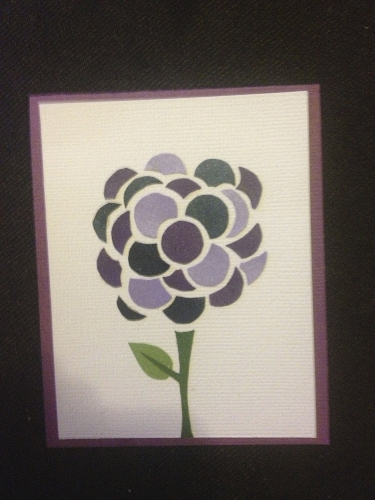These paper petals made a perfect birthday card for Mom.