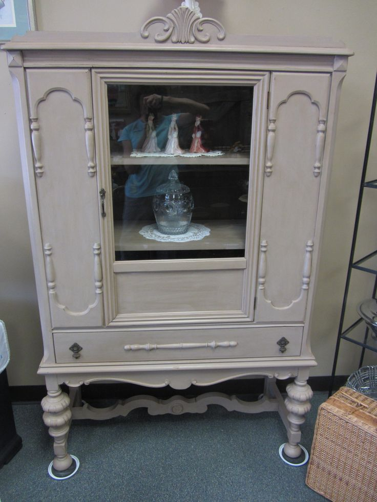 Antique Jacobean Hutch Painted In Mother Earth Tanfastic With Chocoholic On  The Inside And Finished With