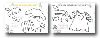 Printables van Studio Stift:   gratis Pieten-aankleedpopjes voor Sinterklaas!  #studiostift