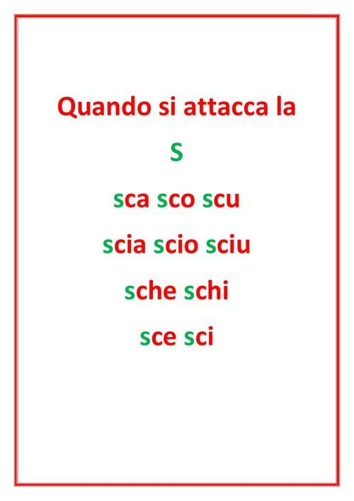 Trigrammi Sca Sco Scu Sci Sce Learning Italian