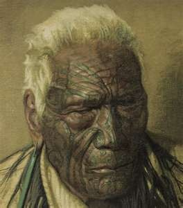 A Noble Relic of a Noble Race, Wharekauri Tahuna Aged 102, A Chieftain of the Arawa Tribe