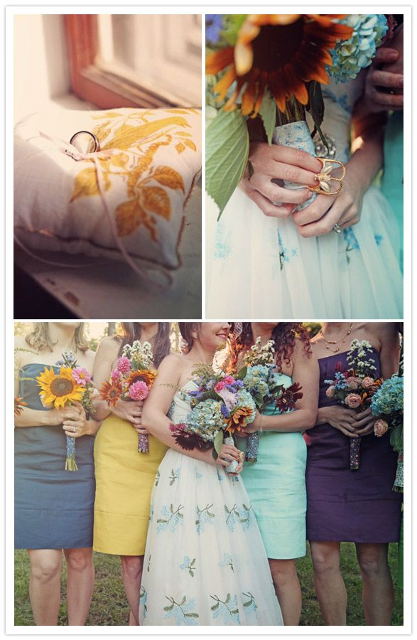 Melissa, I saw you pinned the wildflower bouquet. You might like this entire wedding.