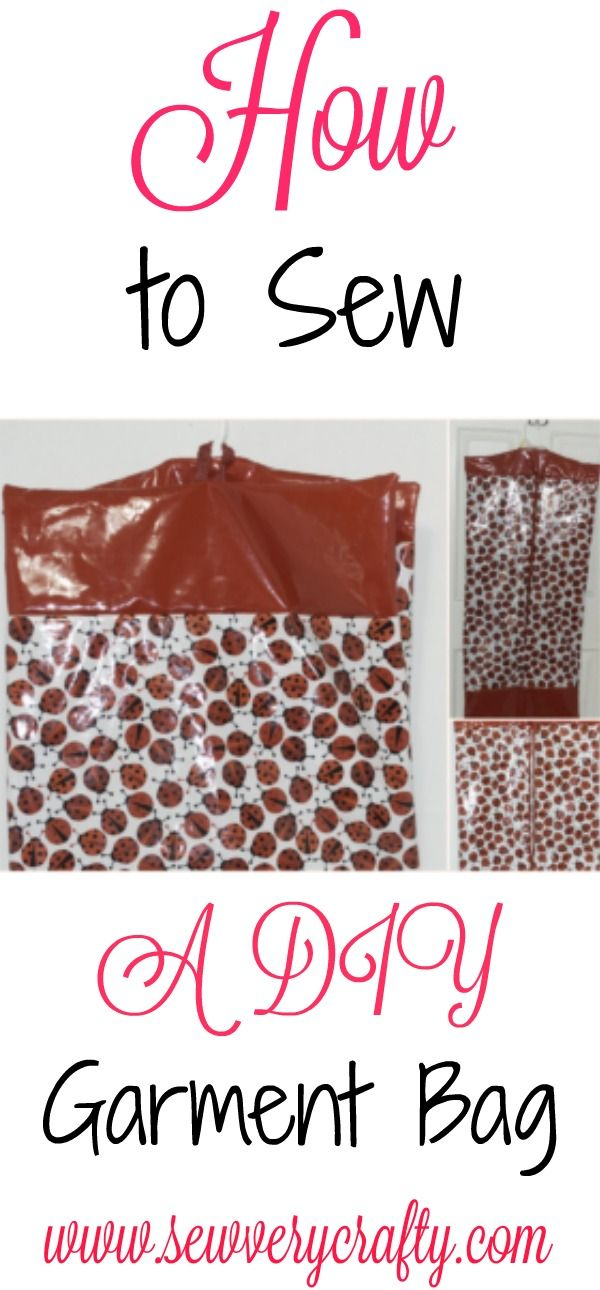 How to sew a DIY Garment Bag using lamenated cotton. #sewing #Garmentbag #bag #garment #pattern
