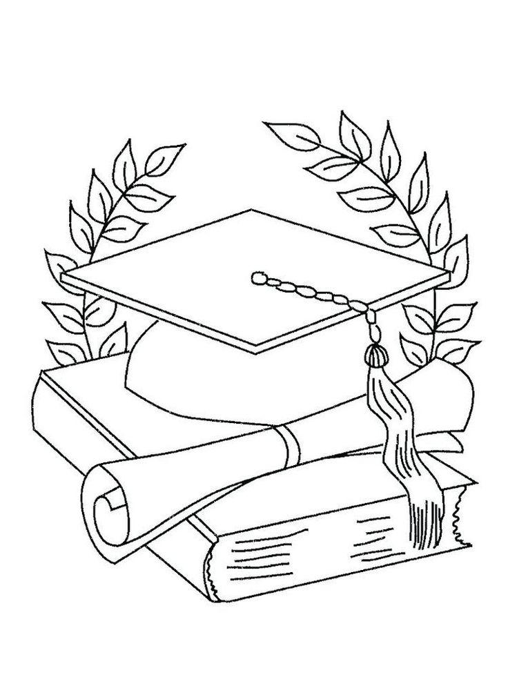Graduation Coloring Sheets Kindergarten. Graduation day is