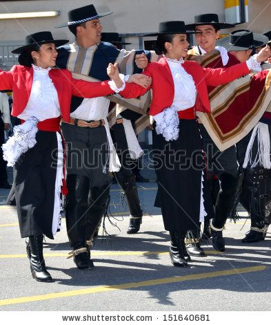 Chilean dance formation at the International Festival of Folklore and Dance from the mountains