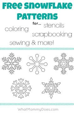 snowflake templates for coloring pages, stencils, scrapbooking sewing patterns #typeaparent