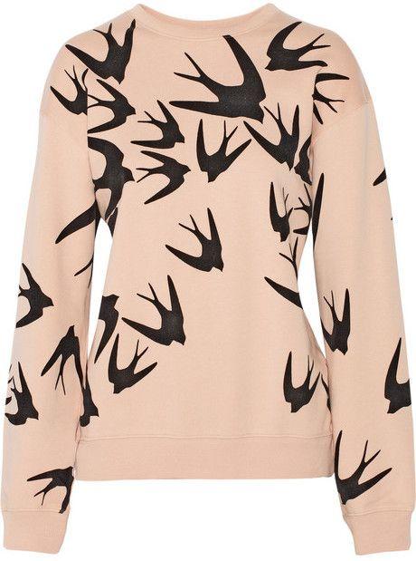 McQ Alexander McQueen Flocked cotton sweatshirt