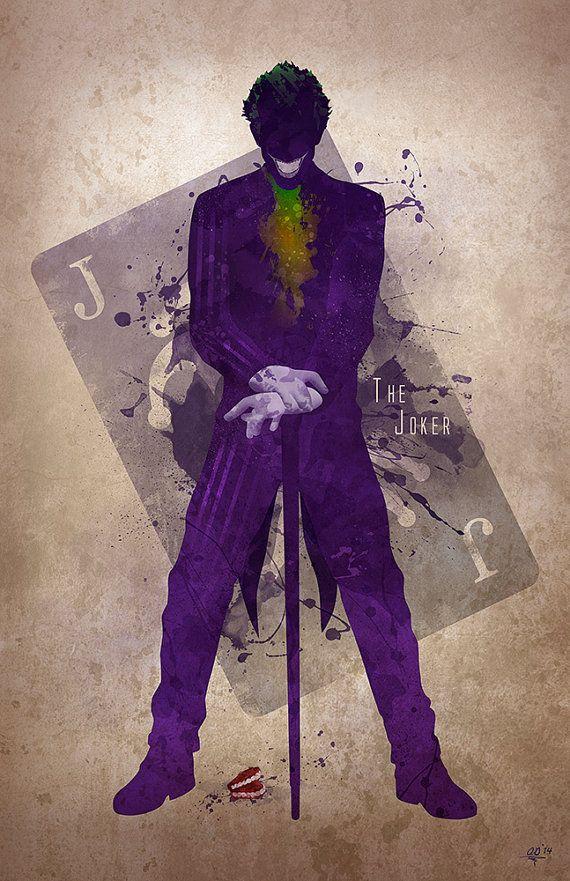 Original Giclee Art Print 'The Joker' by DigitalTheory on Etsy