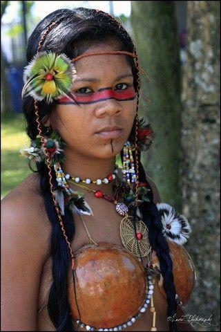 Bertioga, Brazil (brazilian indigenous woman cultural event) - a photo by Laura C