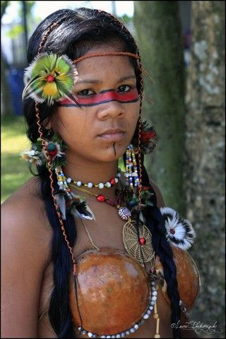 Bertioga, Brazil (brazilian indigenous woman cultural event) - a photo by Laura C