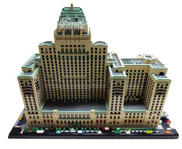 Toronto's Fairmont Royal York in LEGO microscale
