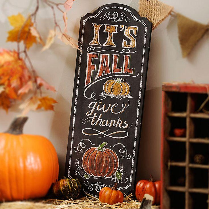 TIt's Fall Chalkboard Art Wooden Plaque | Kirklands,  like this