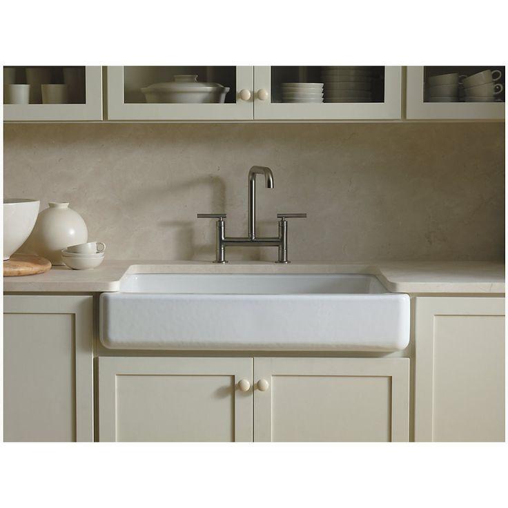 36 kohler whitehaven farmhouse sink with short apron the
