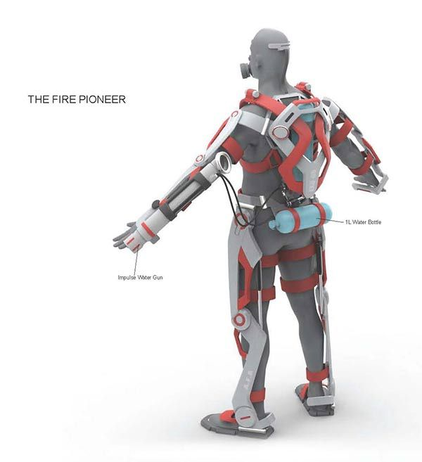 A.F.A. - Powered Exoskeleton Suit for Firefighter by Ken Chen » Yanko Design