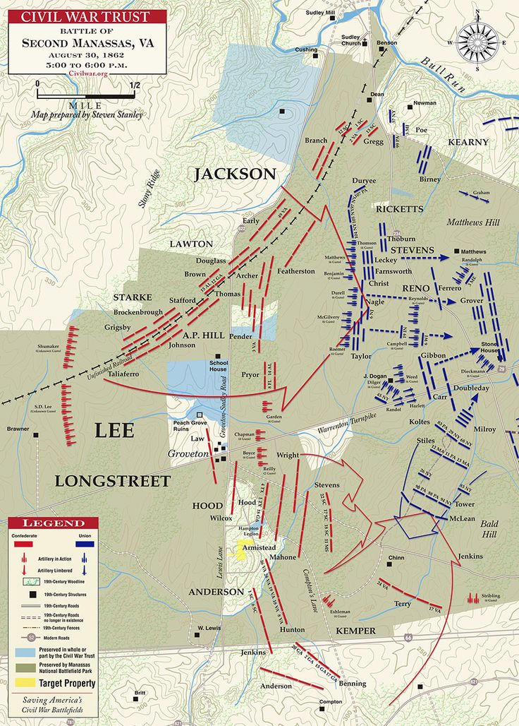 Second Manassas - Longstreet's Assault - August 30, 1862