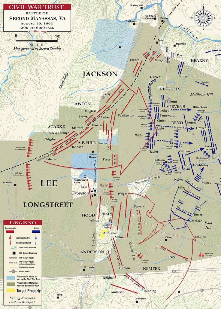 Second Manassas - Longstreet's Assault - August 30, 1862