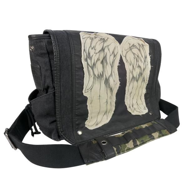 The Walking Dead | Daryl Dixon | Leather Vest Wings | Fashion Bag | TWD Fan | TWD Fashion | Cool Messenger Bag | Military Bag | Messenger Bags | Daryl Dixon Bag | Limited Edition