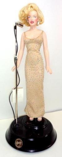"Franklin Mint Marilyn Monroe Happy Birthday Mr. President Singing 16"" Doll w/Mic - Franklin Mint"