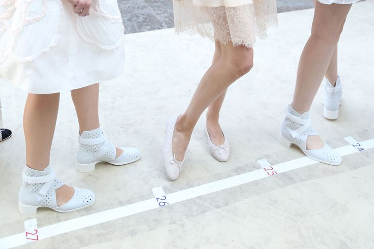 Chanel Spring Summer 2017 White boots