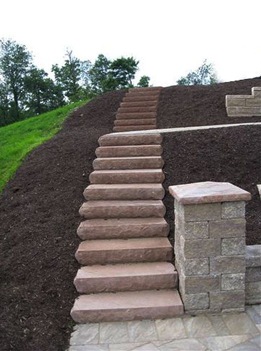Cst landscape steps hardscaping ideas by cst pavers and for Outdoor steps ideas