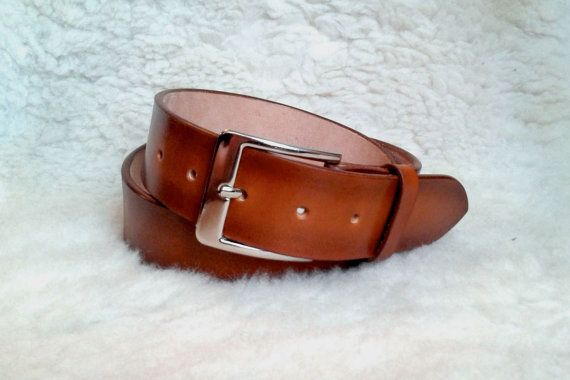 Brown Leather Belt for Mens and Womens Mens by DesignedByCris