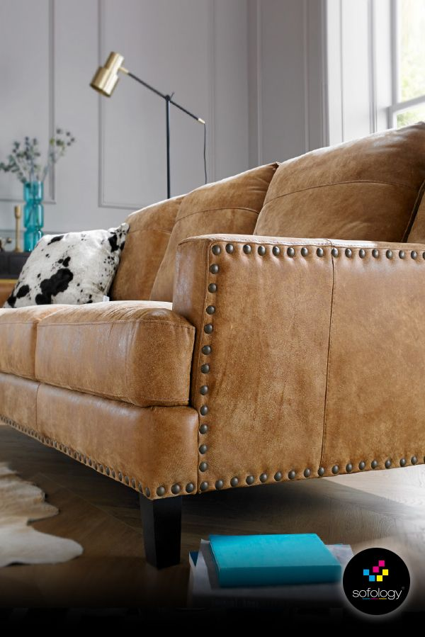 Valentino, made in nubuck, fully natural leather for warmth and softness. Individually studded by craftsmen with resilient foam seats and fibre backs for amazing comfort and low maintenance. And all from only £599.