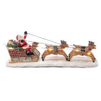 Trineo de Papá Noel para Pueblo Navideño 15x15x5 cm | venta online en HOLYART