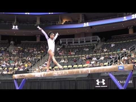 Jordan Chiles - Balance Beam - 2014 P&G Championships - Jr. Women Day 2 - YouTube