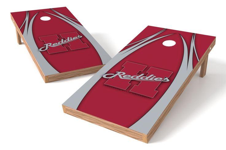 Henderson State Reddies Cornhole Board Set - The Edge (w/Bluetooth Speakers)