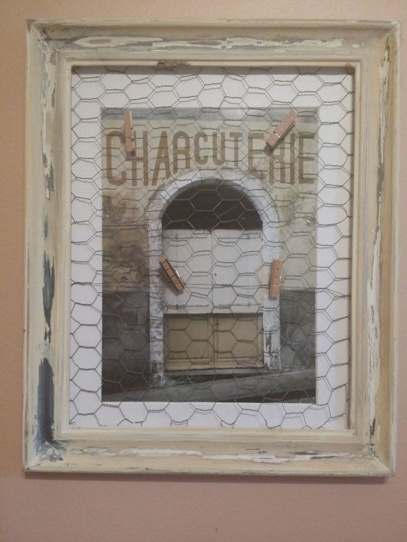 shabby chicken wire picture frame
