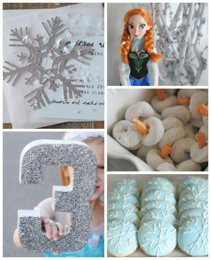 Frozen themed birthday party with Such Cute Ideas via Kara's Party Ideas KarasPartyIdeas.com #frozen #frozenparty #partyideas #partydecor (2...