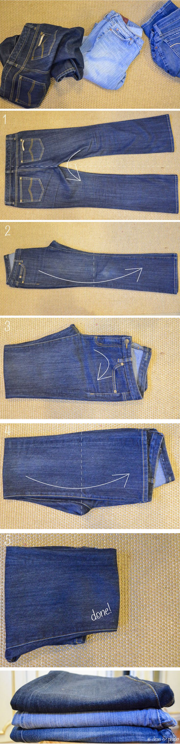 5 Steps to Folding Jeans Perfectly, every time!