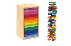60 parts, 20 different colours.  Box size 22 x11x 10 cm