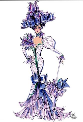 "c  Flora Dora ""Iris"" costume by Bob Mackie Bob Mackie made me want to be a fashion designer when I was kid!"