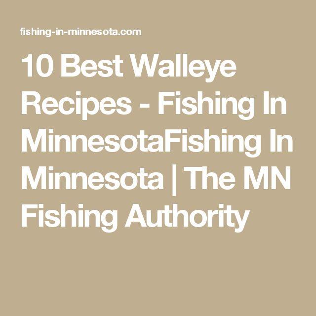 Best 25 walleye recipes ideas on pinterest walleye fish for Best fishing in minnesota